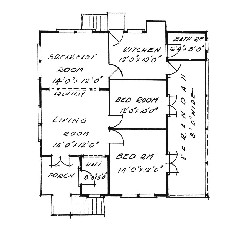 34 foot house plan